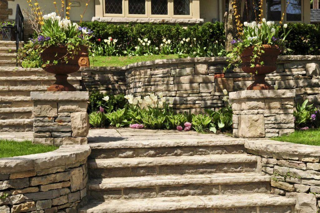 retaining walls and garden walls Capital Masonry McLean VA