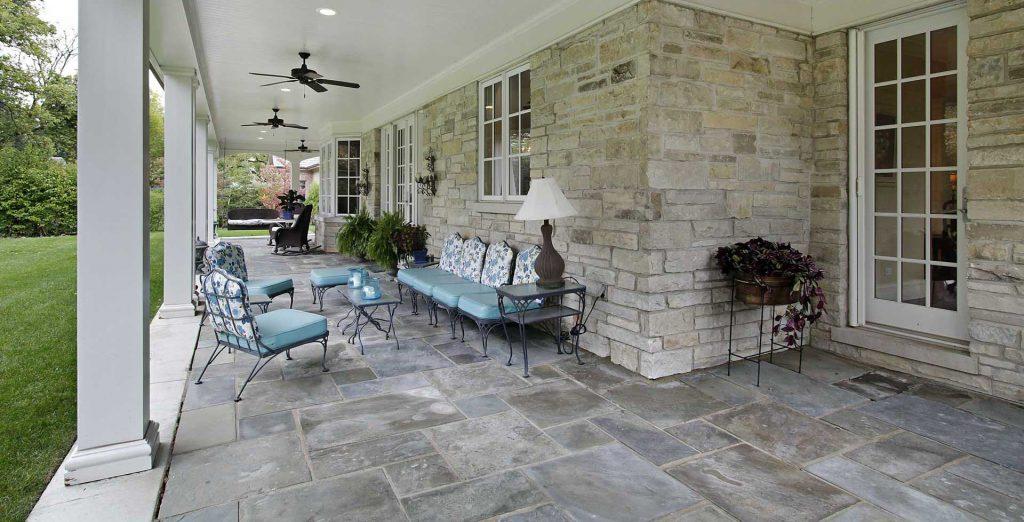 Masonry patio installation by Capital Masonry 2B